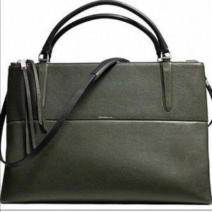 Coach Borough Bag Alpine Moss Pebbled Leather